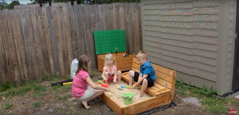 Как сделать песочницу для детей своими руками